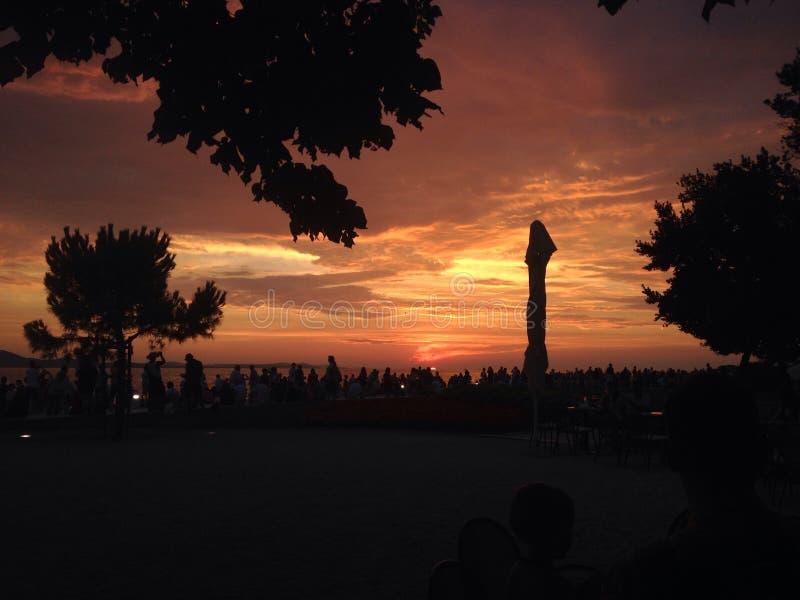 Por do sol Zadar fotos de stock royalty free