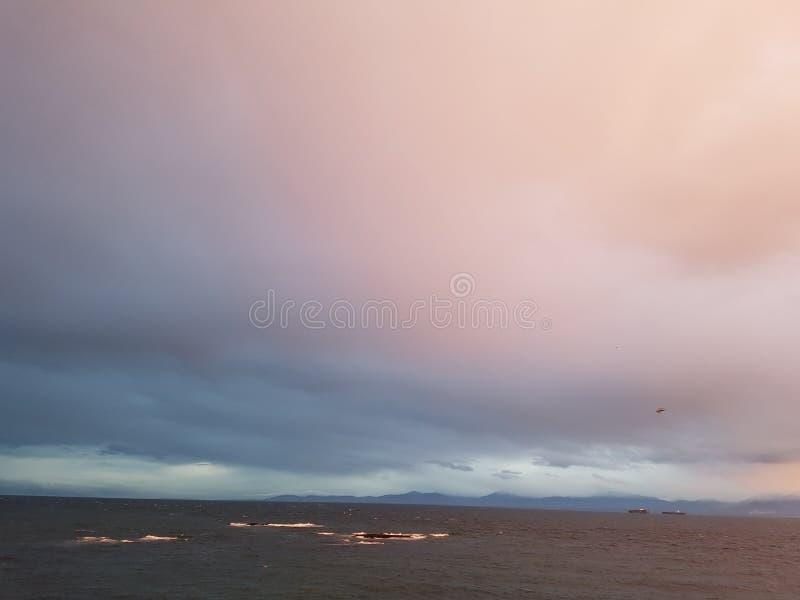 Por la bahía Victoria de James a.C. foto de archivo