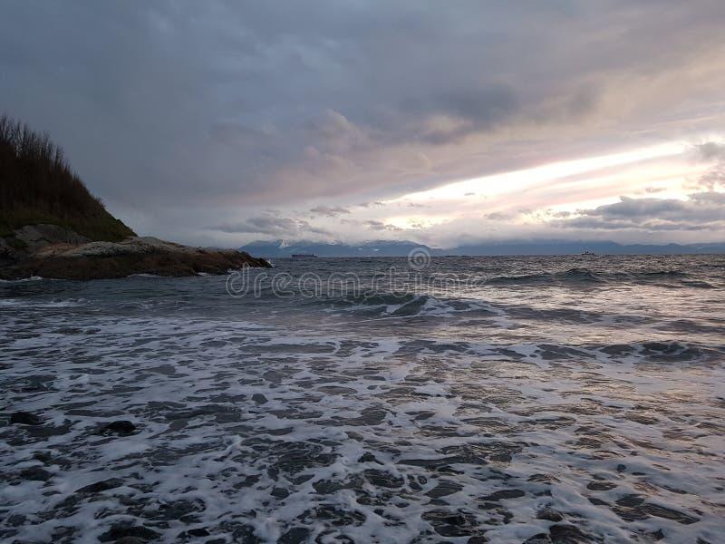 Por la bahía Victoria de James a.C. imagen de archivo
