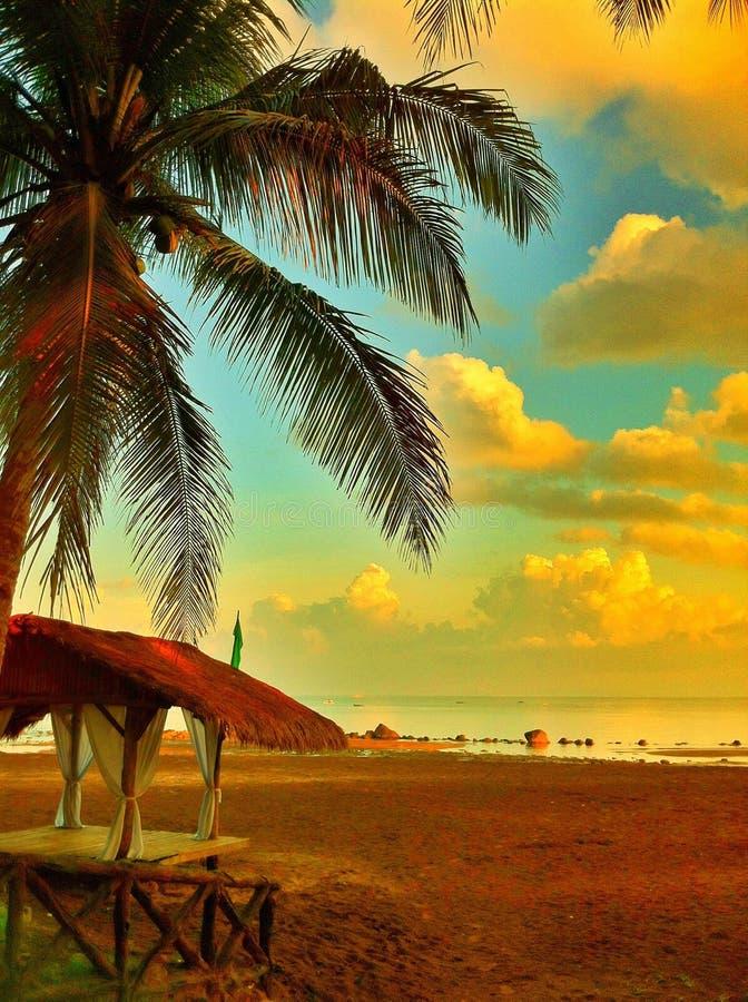 Por la playa fotografía de archivo
