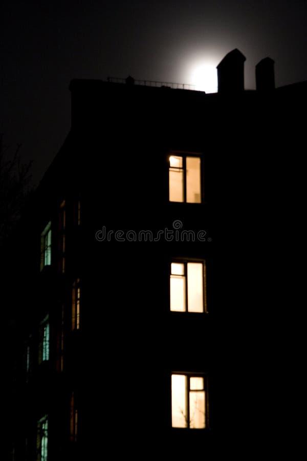 Por noche foto de archivo