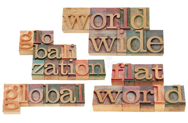 Por todo el mundo y globalización fotos de archivo