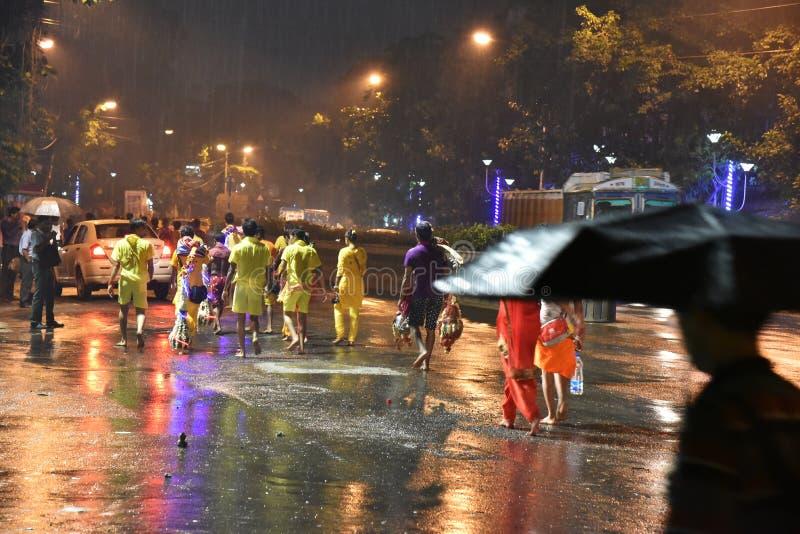 Pora Deszczowa Kolkata obrazy stock