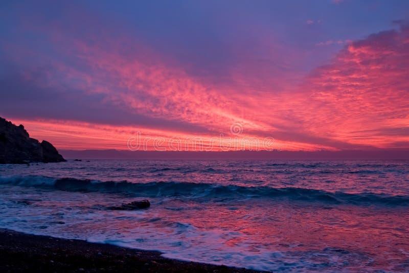 Poranek nad Morzem Czarnym zdjęcie royalty free