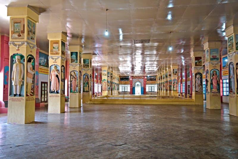 Porbandar. Inre Bharat Mandir royaltyfri fotografi