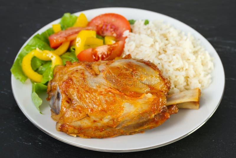 Porc avec du riz photos libres de droits