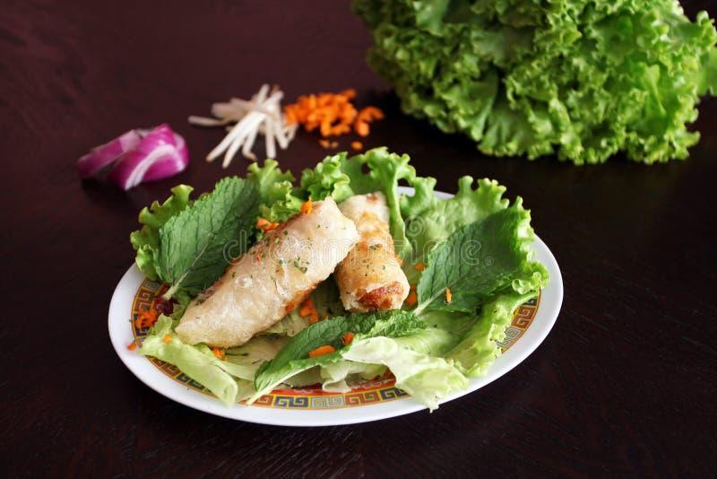 Porc chinois Nems photo stock
