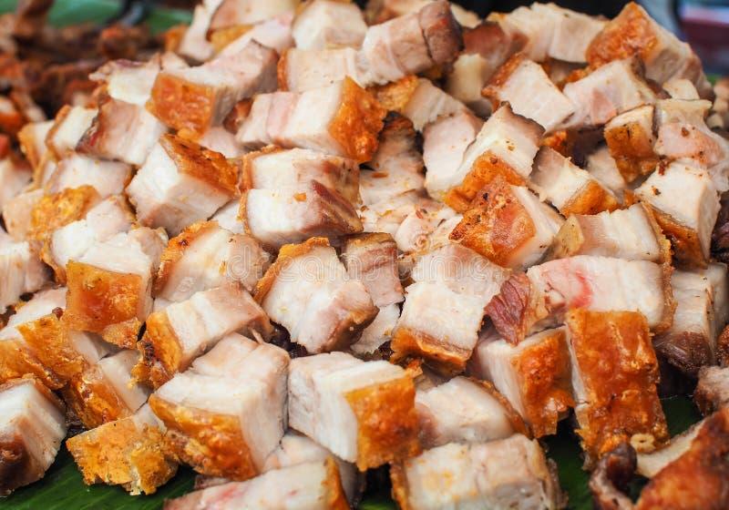 Porc croustillant cuit à la friteuse de ventre de porc photographie stock