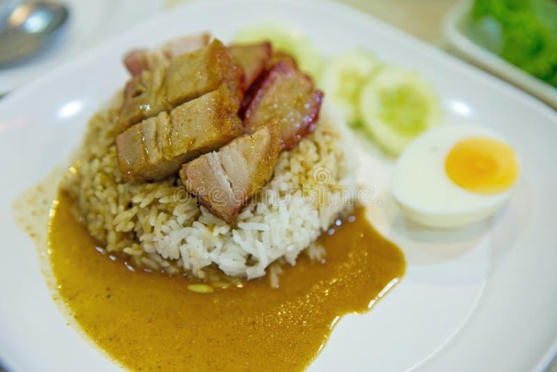 Porc croustillant de riz, foyer sélectif images stock