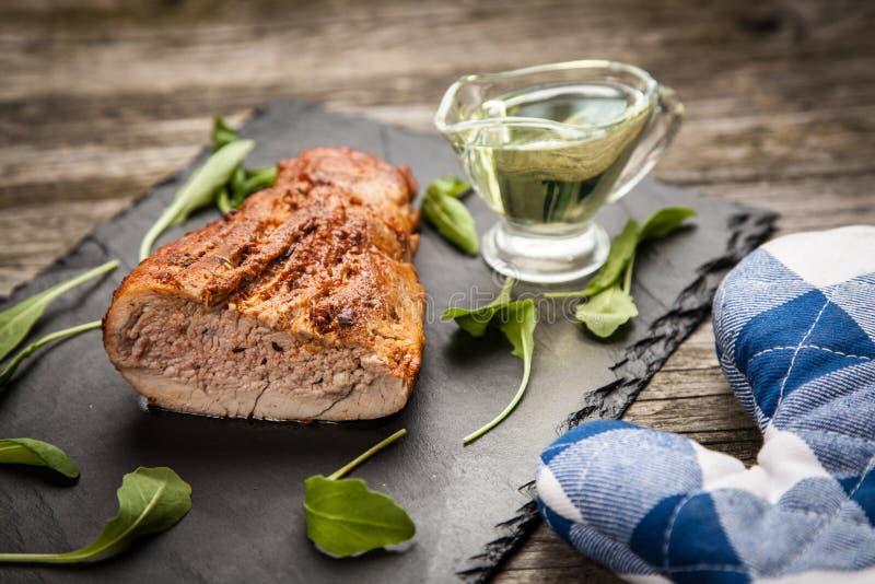 Porc cuit au four délicieux photographie stock libre de droits