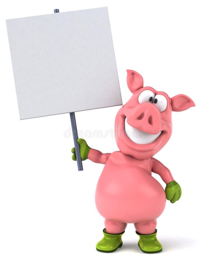 Porc d'amusement illustration libre de droits