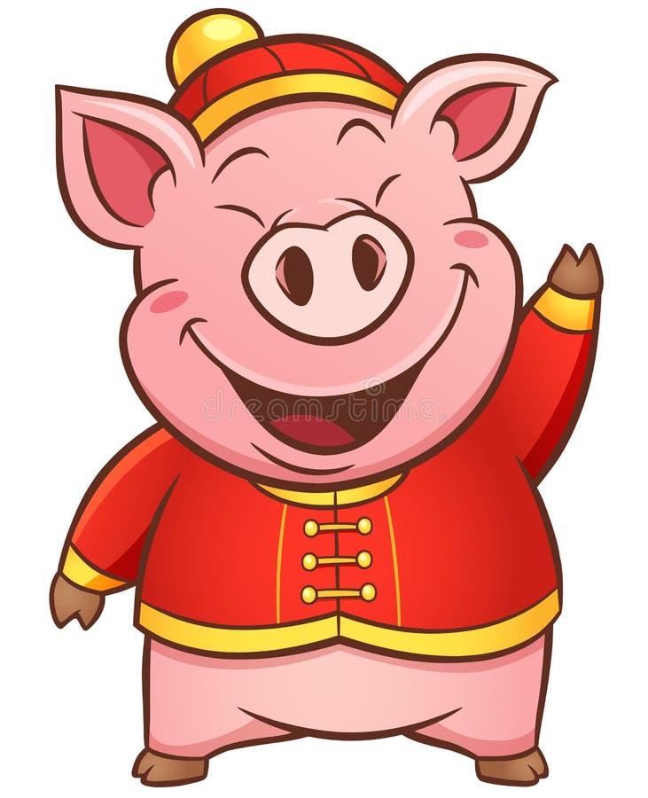 Porc de bande dessinée illustration de vecteur