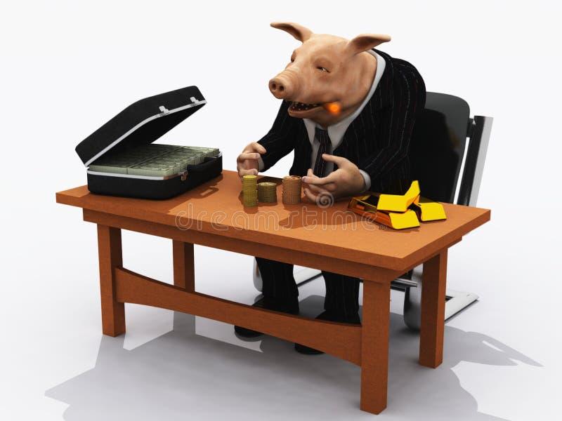 Porc de banquier illustration de vecteur