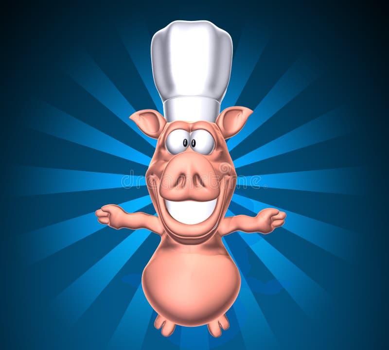 Porc de chef illustration libre de droits