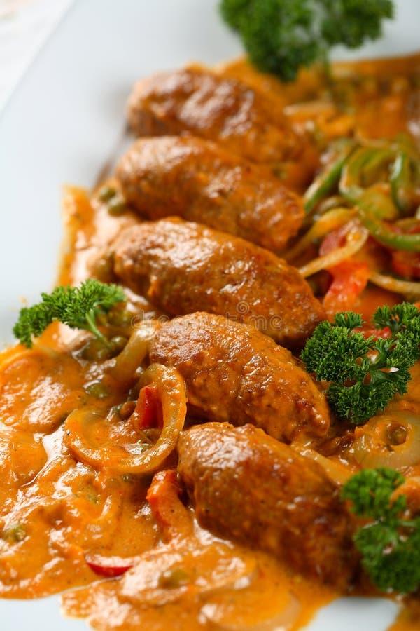 Porc de four avec rectifier et légumes images libres de droits