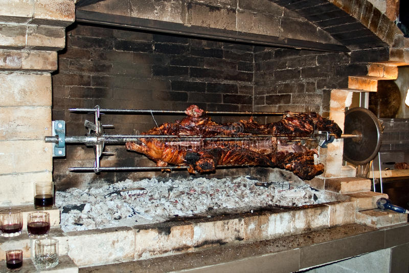 Porc de Rotisserie photo stock