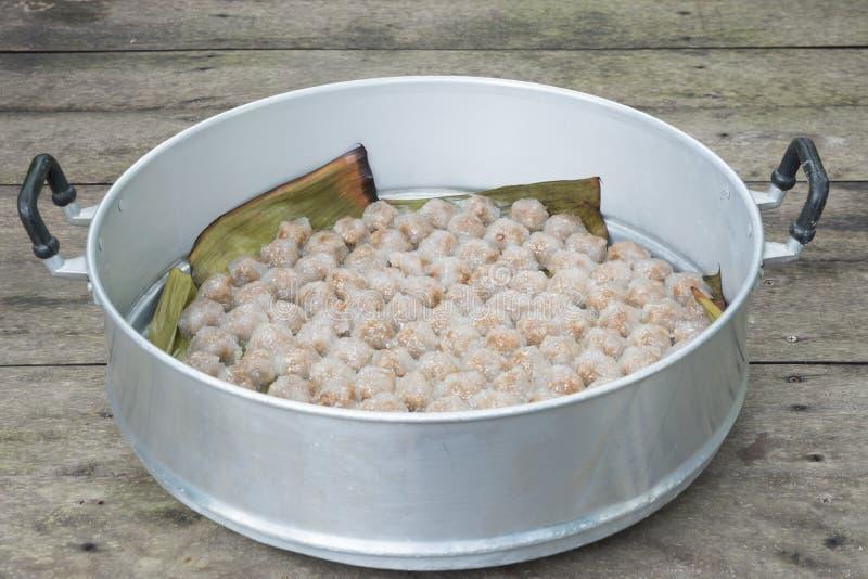 Porc de sagou de dessert de la Thaïlande photographie stock libre de droits