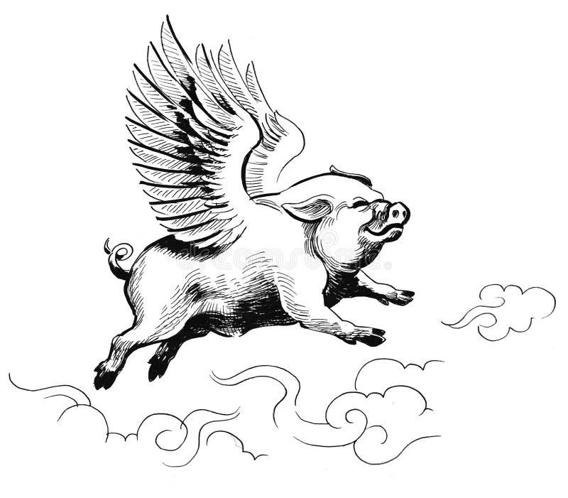 Porc de vol illustration de vecteur
