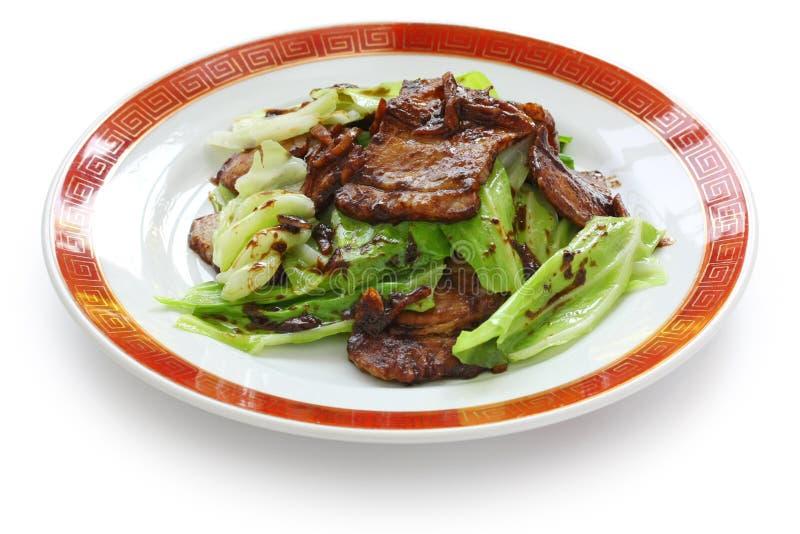 Porc deux fois cuit, nourriture chinoise image stock