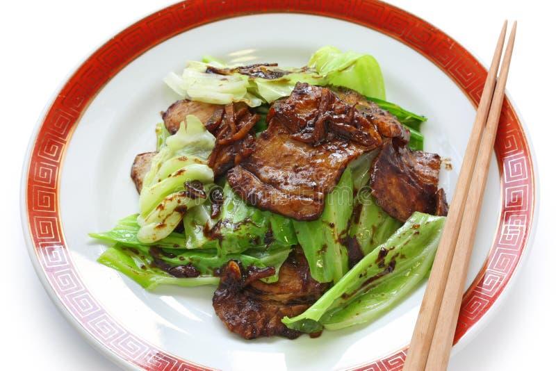 Porc deux fois cuit, nourriture chinoise images stock