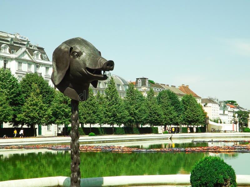 Porc du jardin Balevere de palais image libre de droits