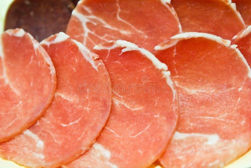 Porc et fruits de mer frais photo stock