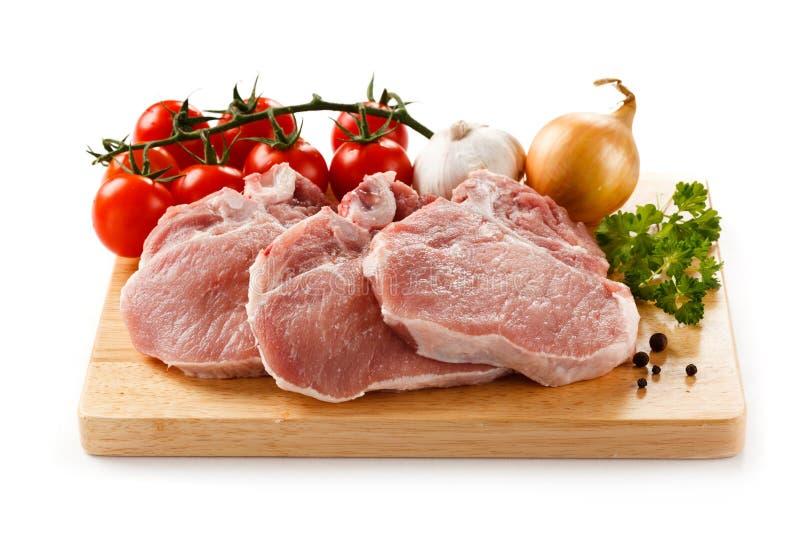 porc frais cru image stock