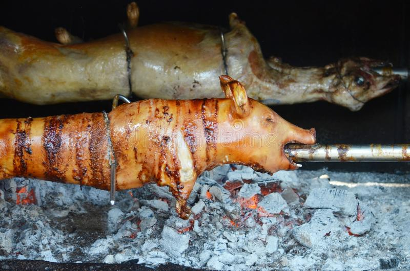 Porc grillé Porc rôti photographie stock