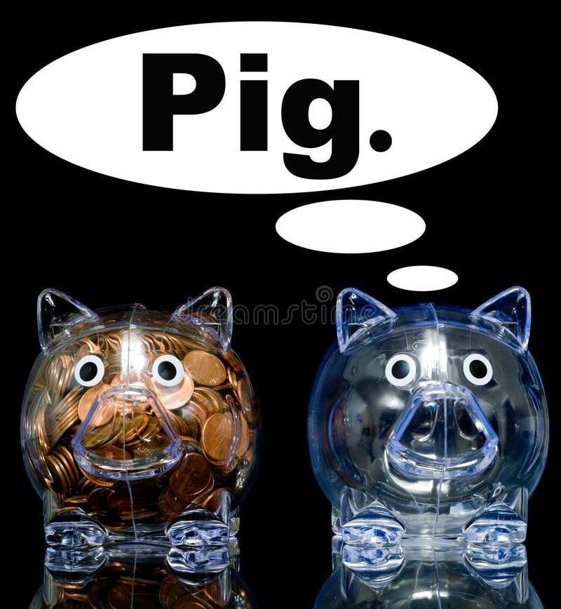Porc jaloux illustration libre de droits