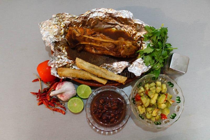 Porc mexicain de nourriture mariné photographie stock libre de droits
