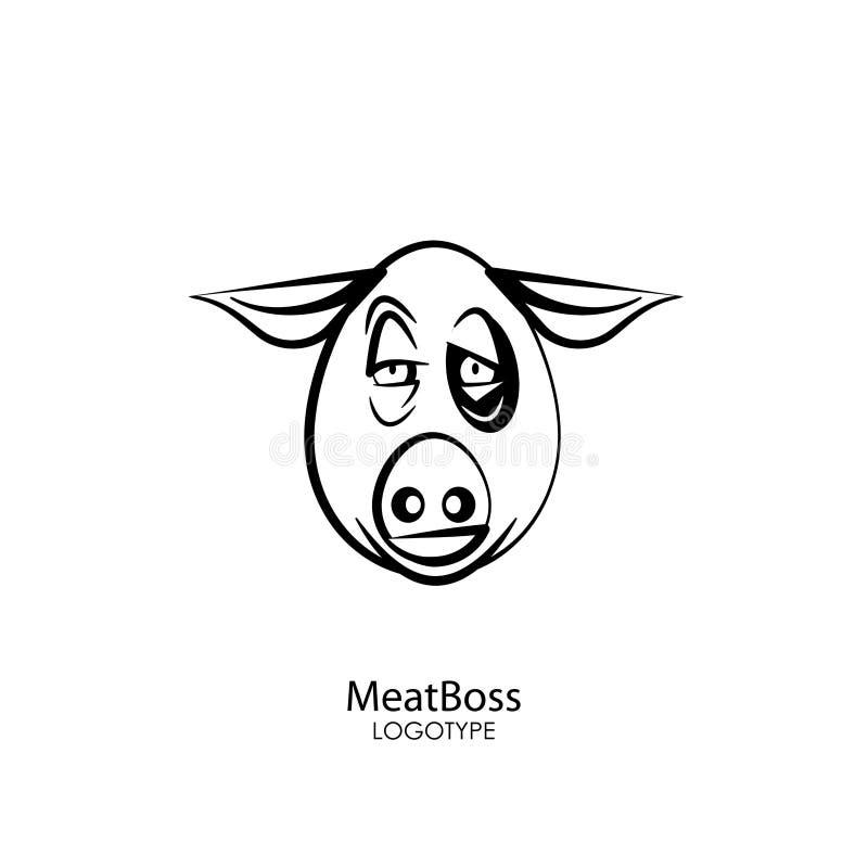 Porc principal drôle illustration libre de droits