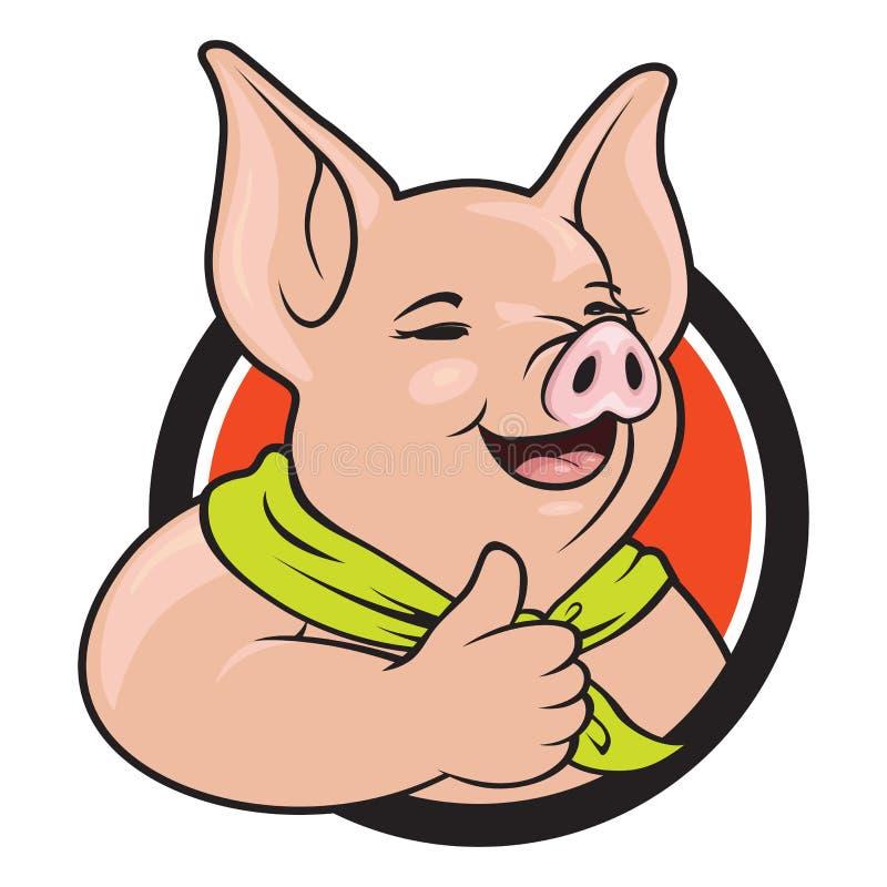 Porc renonçant au pouce images libres de droits