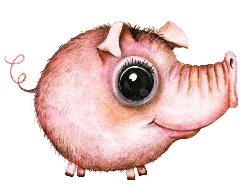 Porc rond de maman d'artoon de ¡ de Ð illustration libre de droits