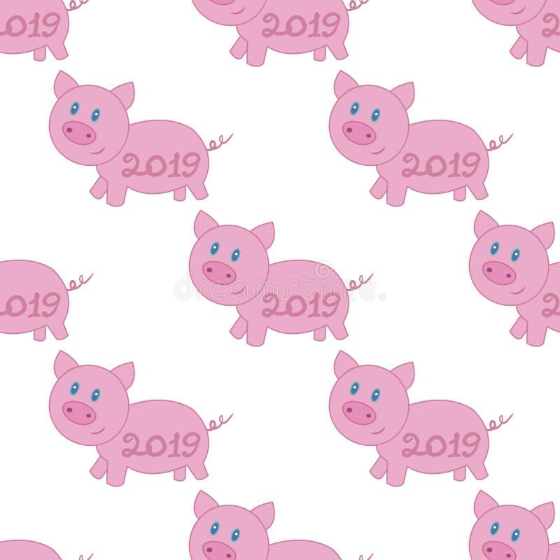 Porc rose de Noël illustration stock