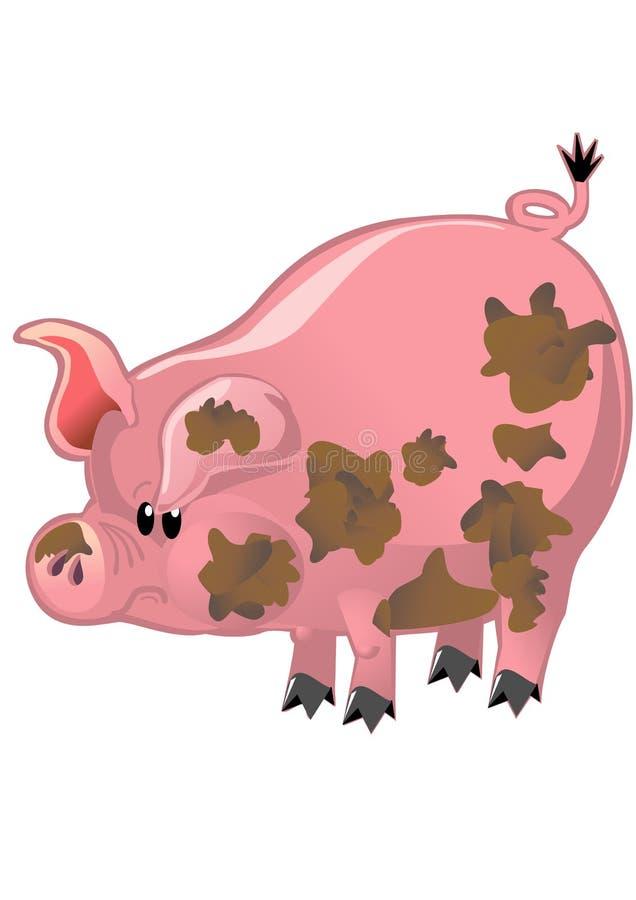 Porc rose heureux illustration libre de droits