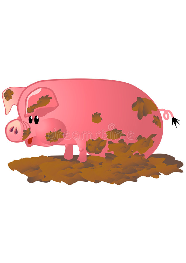 Porc rose heureux illustration stock