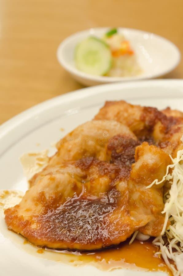 Porc sauté avec du gingembre photo stock