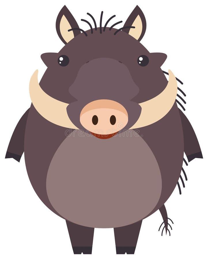 Porc sauvage sur le fond blanc illustration de vecteur