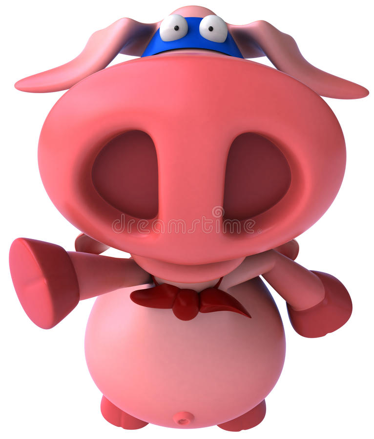 Porc superbe illustration stock
