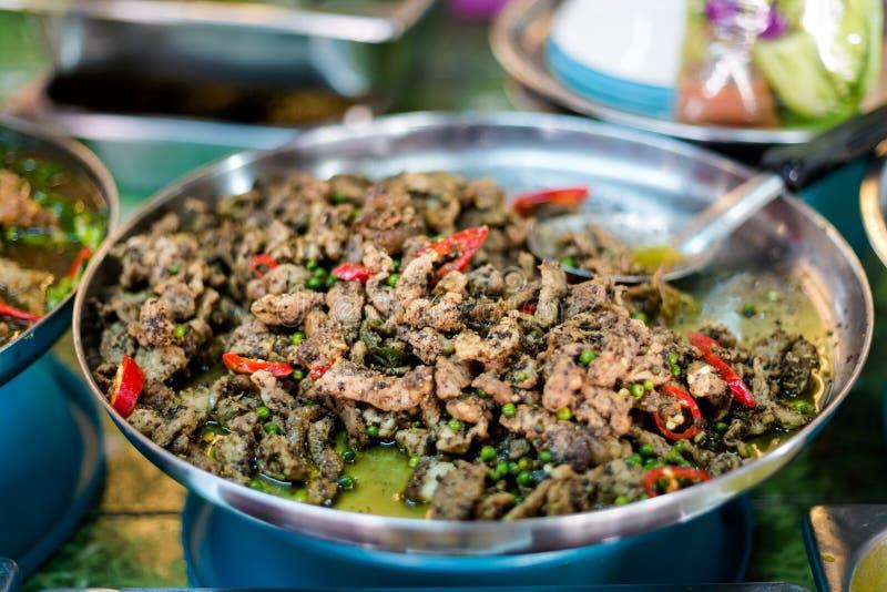 Porc thaïlandais de grains de poivron vert image libre de droits