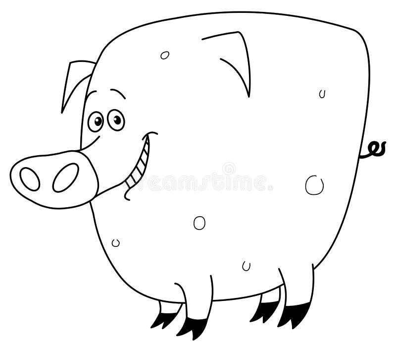 Porc tracé les grandes lignes illustration stock