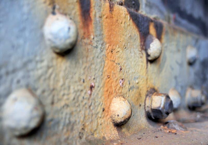 Porca de parafuso oxidada, peça da máquina fotografia de stock royalty free