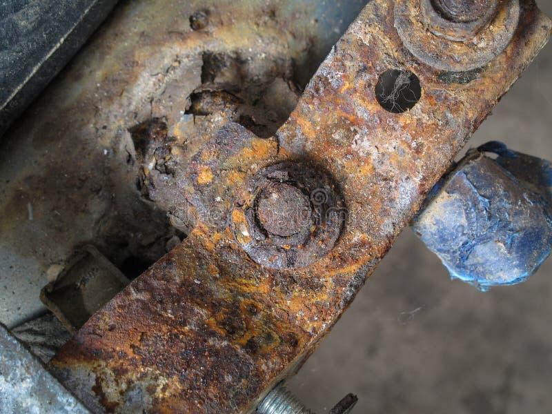 Porca e parafuso oxidados fotografia de stock