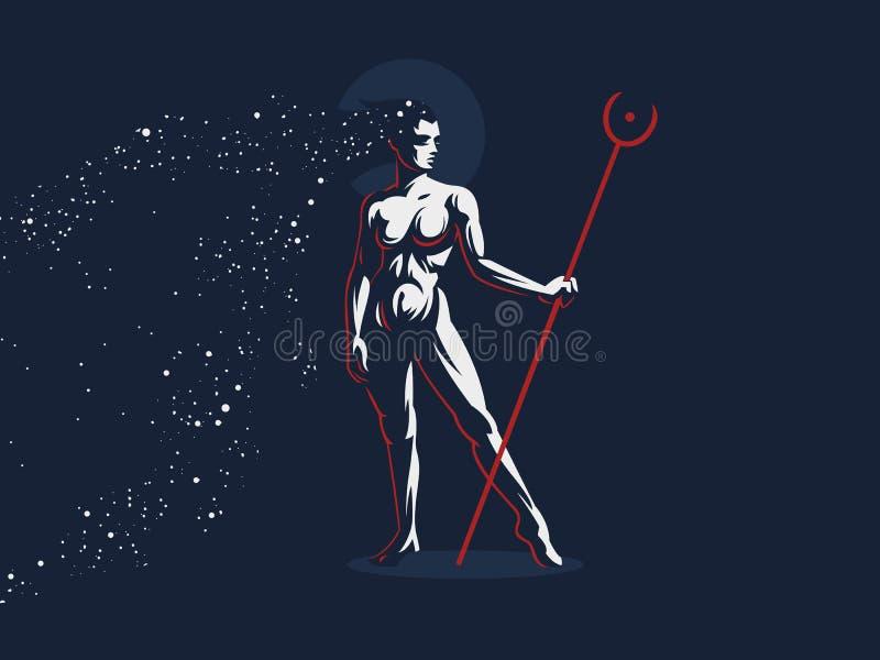 Porca egípcia da deusa ilustração royalty free