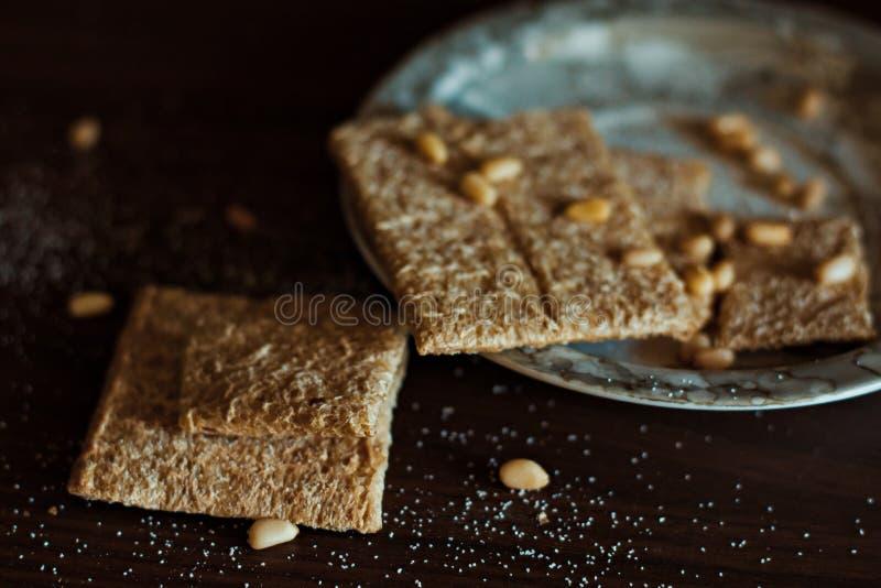 Porcas apropriadas do pão da nutrição fotografia de stock royalty free