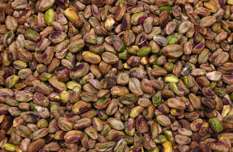 Porcas de pistache saborosos Shell Removed imagem de stock