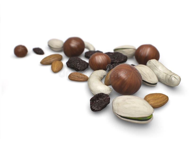 Porcas misturadas com raisins. ilustração do vetor
