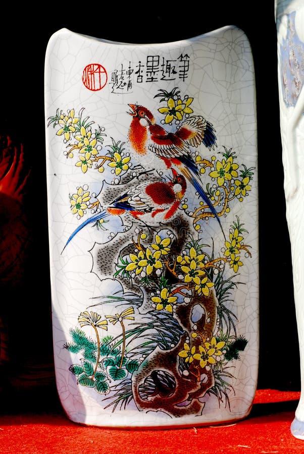 porceilan vase för blyertspenna royaltyfria bilder