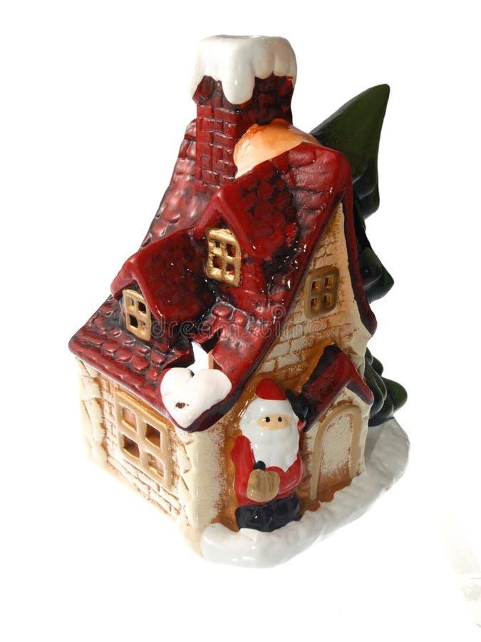 Porcelain christmas house stock image