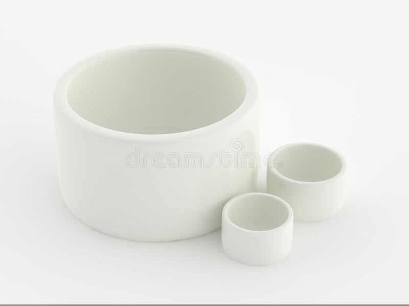 Porcelain Container Royalty Free Stock Photos
